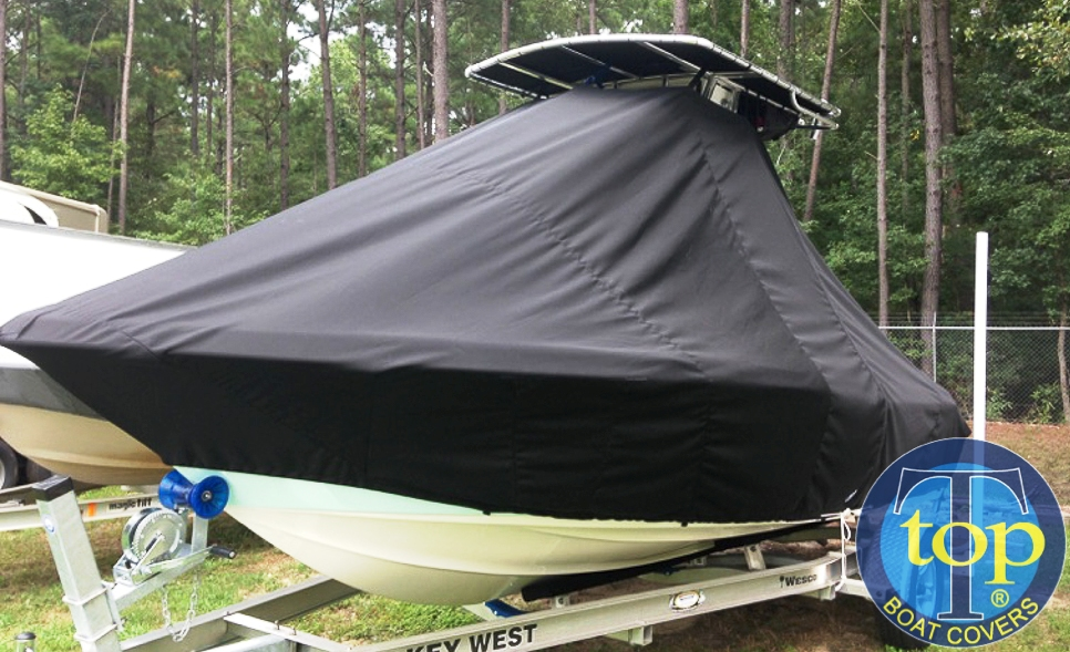 Key West 189FS, 20xx, TTopCovers™ T-Top boat cover front