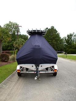 Key West, 203FS, 20xx, TTopCovers™ T-Top boat cover Rear 555