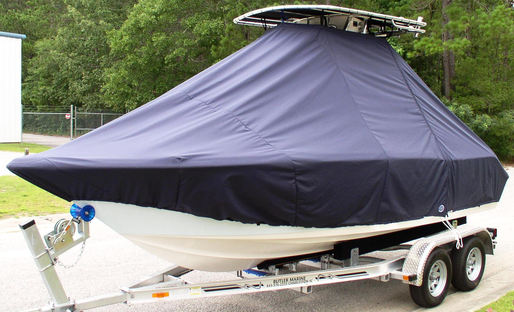 Key West, 203FS, 20xx, TTopCovers™ T-Top boat cover, port front