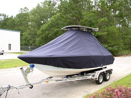 Key West, 203FS, TTopCovers™ T-Top boat cover Front 555
