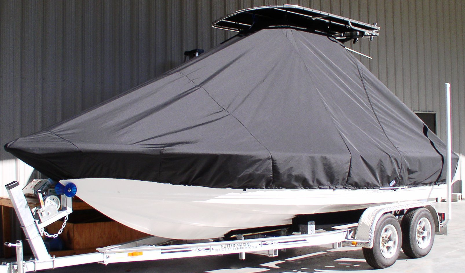 Key West 210BR, 20xx, TTopCovers™ T-Top boat cover, port front