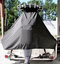 Key West 210BR, 20xx, TTopCovers™ T-Top boat cover rear