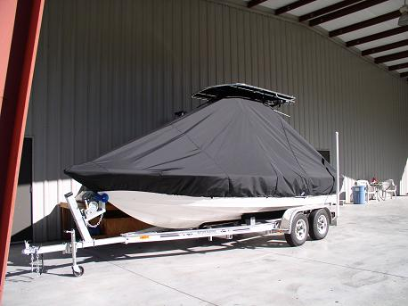 Key West 210CC, TTopCovers™ T-Top boat cover Front 553