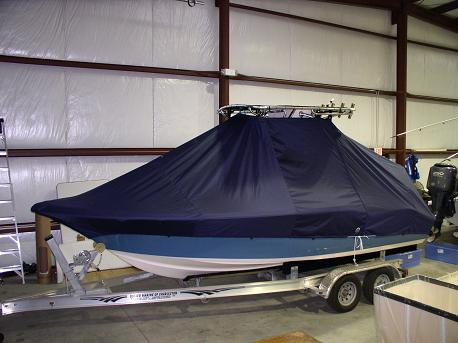 Key West 211CC, TTopCovers™ T-Top boat cover Front 382