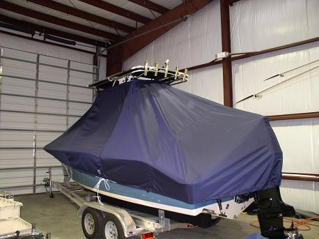 Key West 211CC, TTopCovers™ T-Top boat cover Rear 382