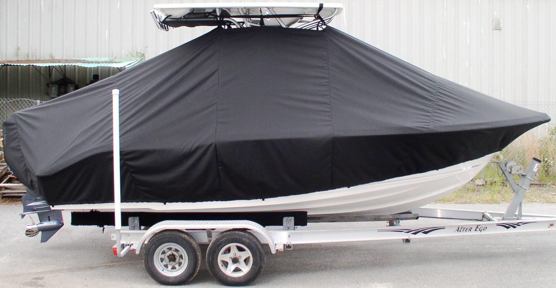 Key West 219FS, 20xx, TTopCovers™ T-Top boat cover, starboard side
