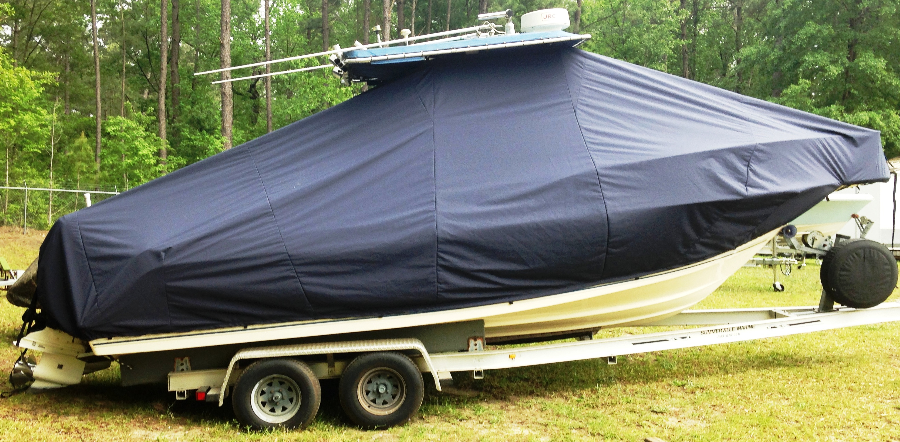 Key West 2300CC SS, 19xx, TTopCovers™ T-Top boat cover, starboard side