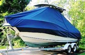 Key West 2300CC SS, 20xx, TTopCovers™ T-Top boat cover, port bow