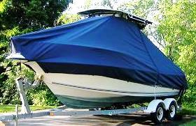 Key West 2300CC, 20xx, TTopCovers™ T-Top boat cover, port bow