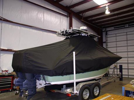 Key West 244CC, 20xx, TTopCovers™ T-Top boat cover Rear 384