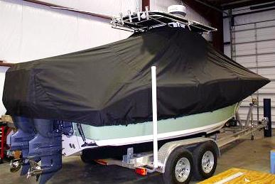 Key West 244CC, 20xx, TTopCovers™ T-Top boat cover, starboard rear