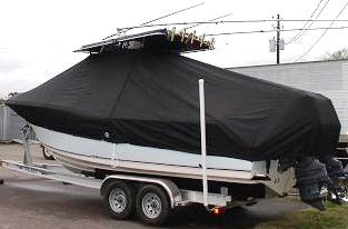 Key West 268CC, 20xx, TTopCovers™ T-Top boat cover, port rear