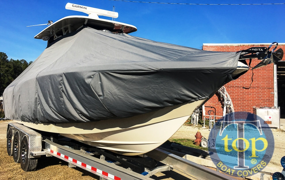 Key West 281 Billistic, 20xx, TTopCovers™ T-Top boat cover, starboard front