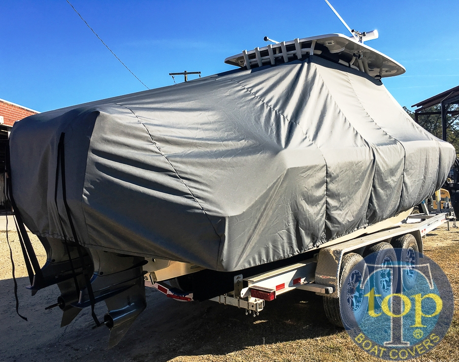 Key West 281 Billistic, 20xx, TTopCovers™ T-Top boat cover, starboard rear
