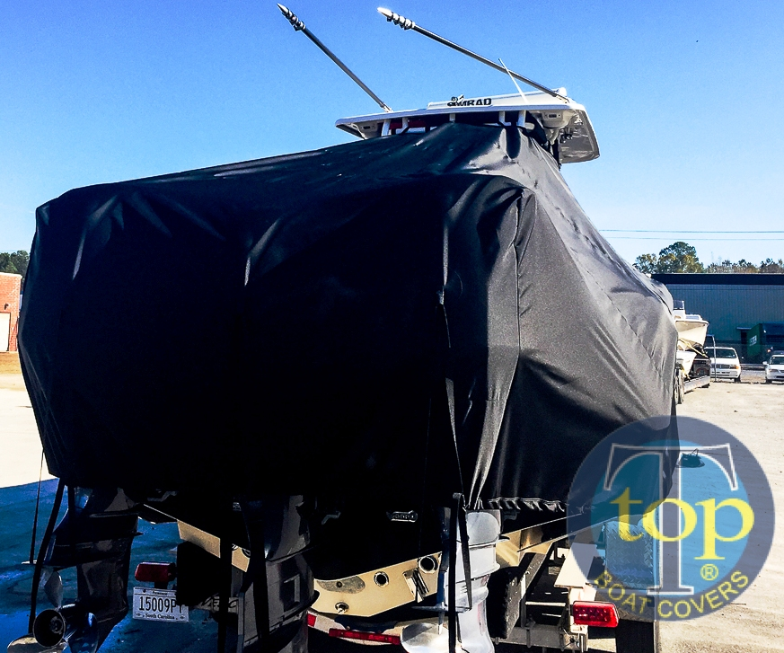 Key West 351 Billistic, 20xx, TTopCovers™ T-Top boat cover rear