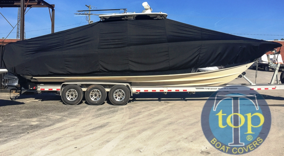 Key West 351 Billistic, 20xx, TTopCovers™ T-Top boat cover, starboard side