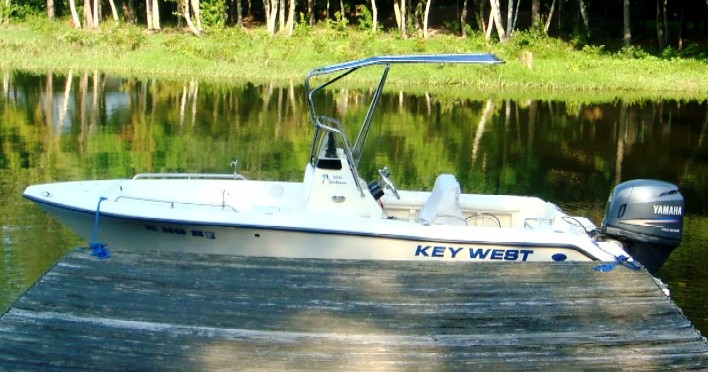 KeyWest 186CC, 2006, Shadow™ at dock