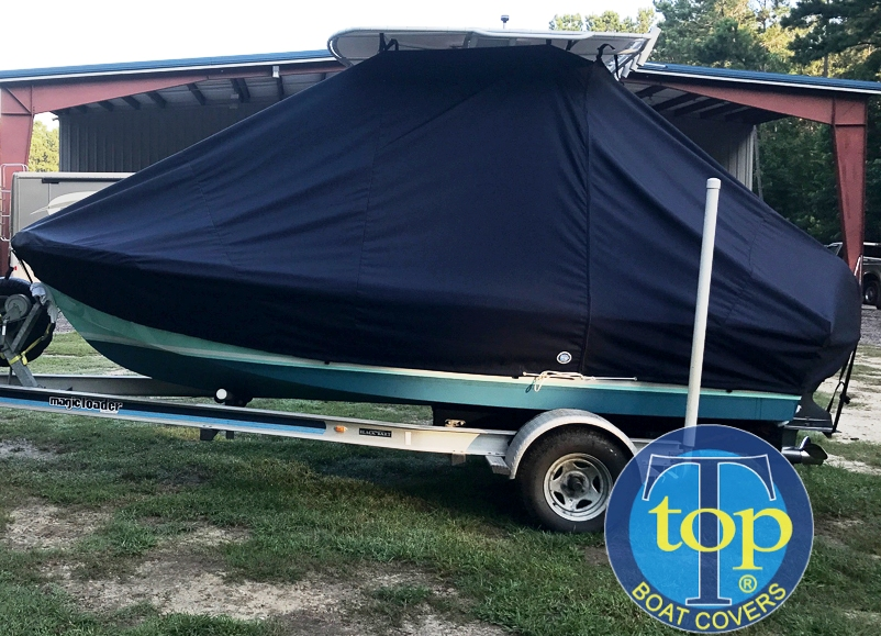 Mako 171CC Classic, 19xx, TTopCovers™ T-Top boat cover, port side