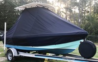 Photo of Mako 17CC Mako 19xx T-Top Boat-Cover, viewed from Starboard Front