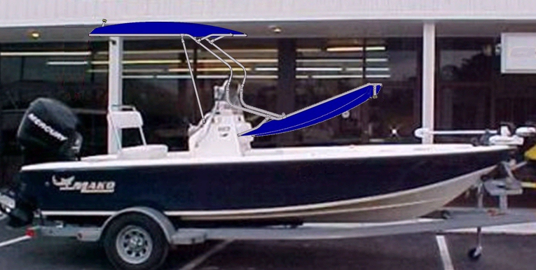 Mako 1801 Inshore, 2006, T-Topless™ Superimposed Raised and Lowered