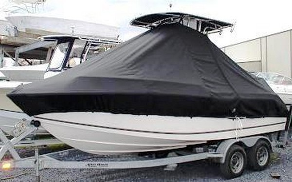 Mako, 191CC, 19xx, TTopCovers™ T-Top boat cover, port front