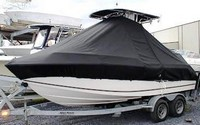 Photo of Mako 192CC 20xx T-Top Boat-Cover, viewed from Port Front