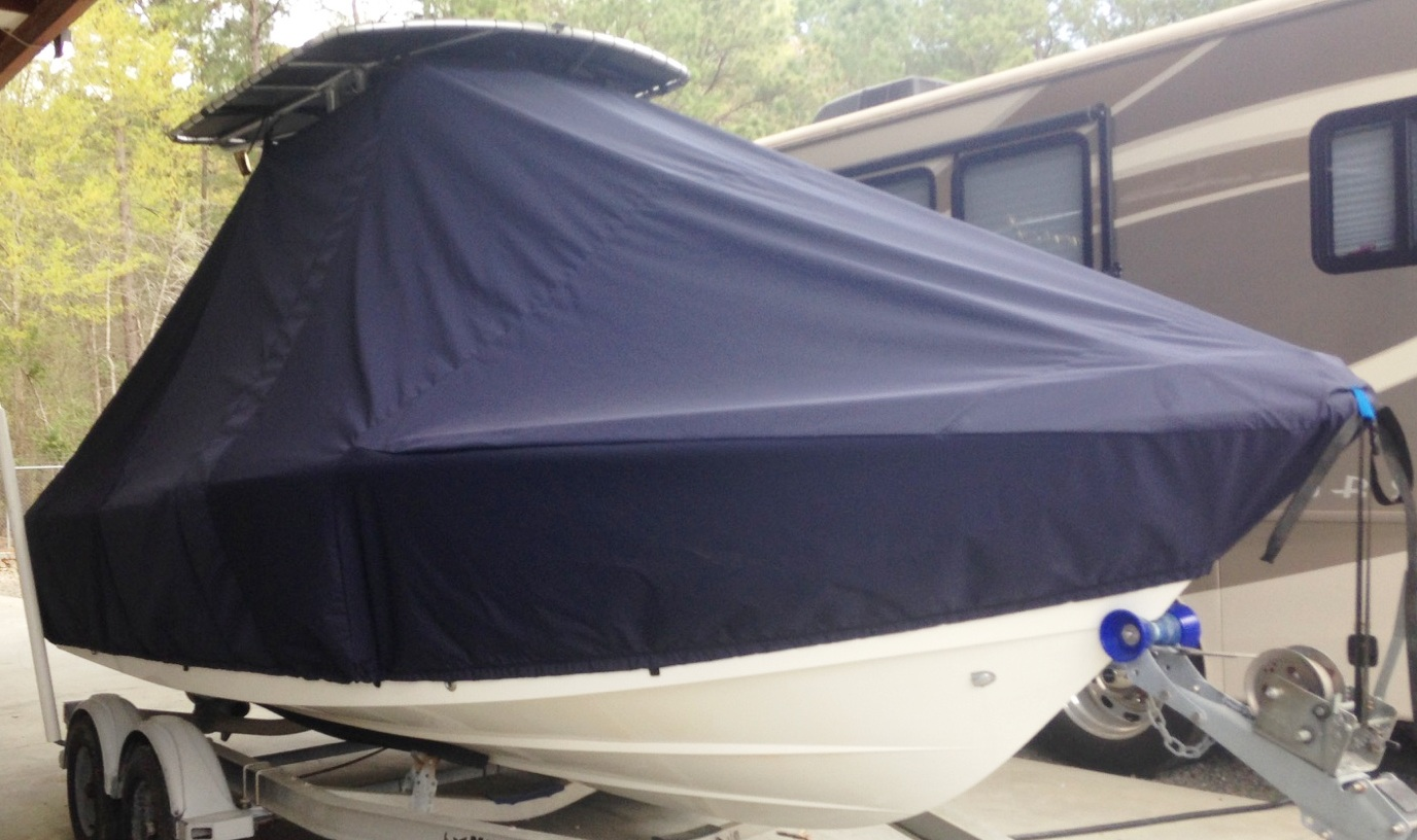 Mako, 204CC, 20xx, TTopCovers™ T-Top boat cover, starboard front