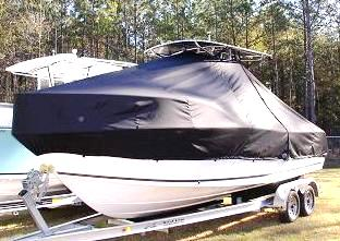 Mako 212CC, 20xx, TTopCovers™ T-Top boat cover, port front