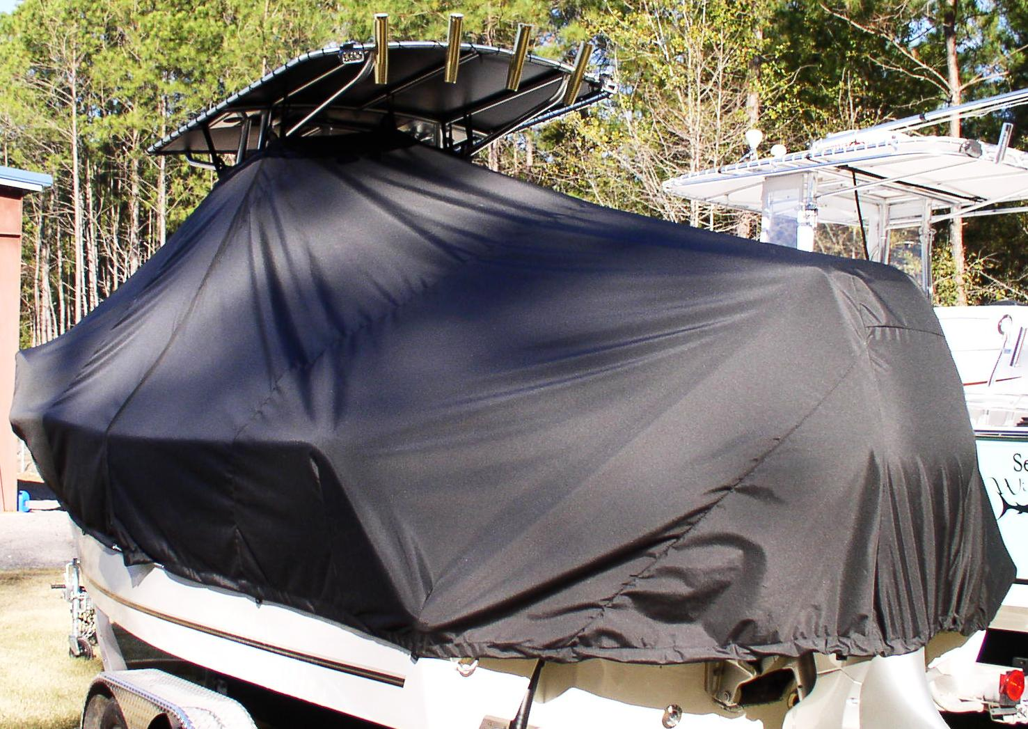 Mako 212CC, 20xx, TTopCovers™ T-Top boat cover, port rear