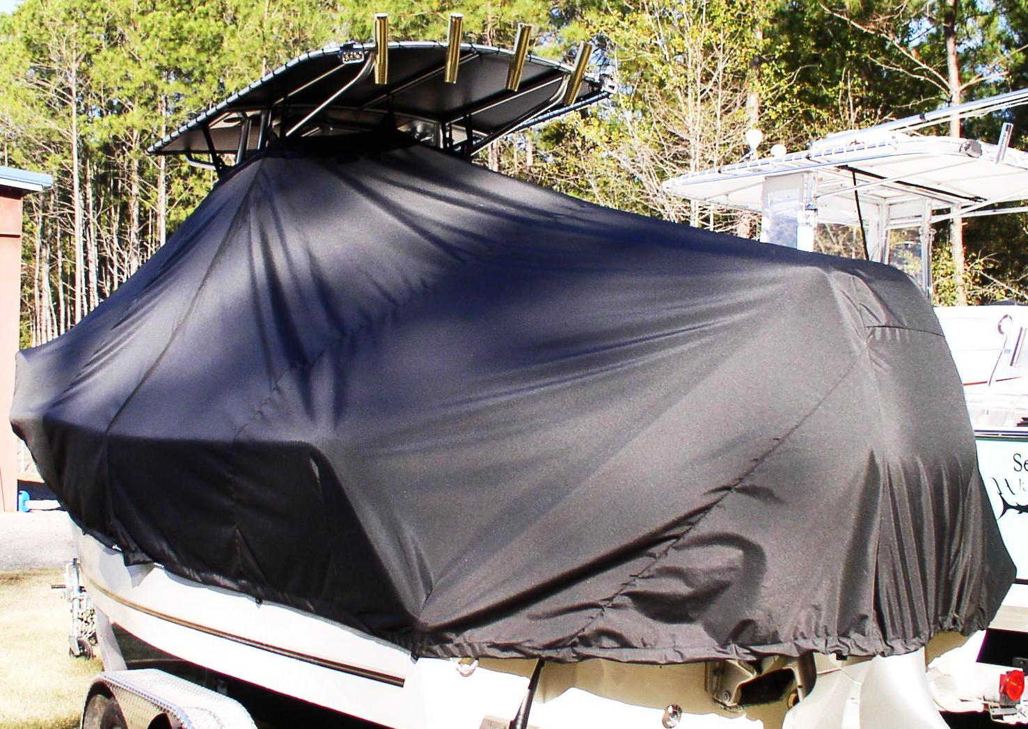 Mako 214CC, 20xx, TTopCovers™ T-Top boat cover, port rear