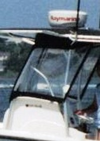 Photo of Mako 234CC, 2006: Factory T-Top, Front Spray Visor T-Top, Side Curtains, viewed from Port Side