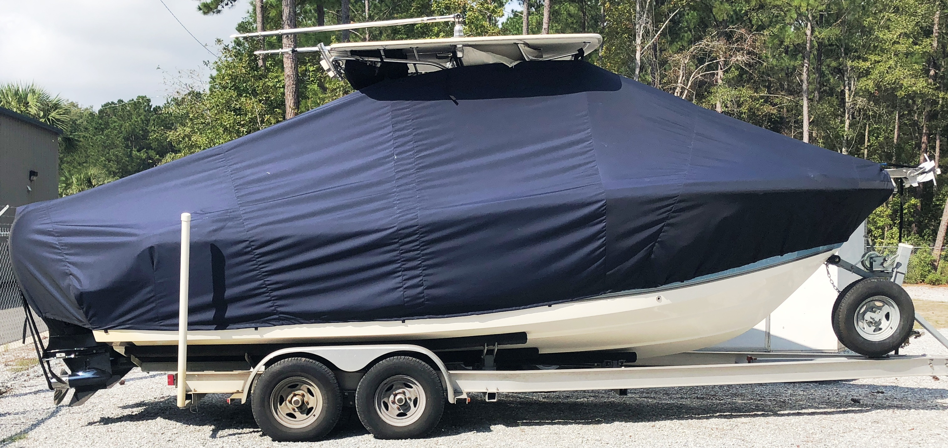 Mako 234cc, 20xx, TTopCovers™ T-Top boat cover, starboard side