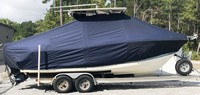 Photo of Mako 234cc 20xx T-Top Boat-Cover, viewed from Starboard Side