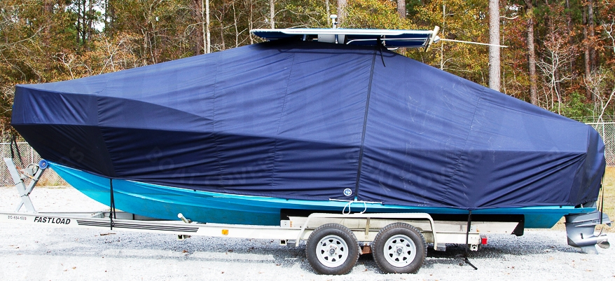 Mako 252CC, 20xx, TTopCovers™ T-Top boat cover, port side
