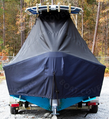 Mako 252CC, 20xx, TTopCovers™ T-Top boat cover rear