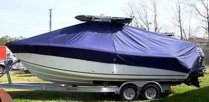 Mako 264CC, 20xx, TTopCovers™ T-Top boat cover, port side