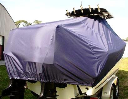 Mako 264CC, 20xx, TTopCovers™ T-Top boat cover rear