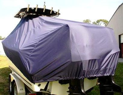 Mako 284CC LOW Bow Rails, 20xx, TTopCovers™ T-Top boat cover, starboard rear