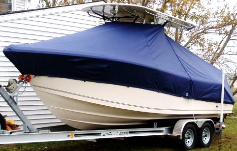McKee Craft Freedom 24, 2008, TTopCovers™ T-Top boat cover, port front