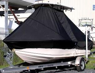 McKee Craft Marathon 184CC, 20xx, TTopCovers™ T-Top boat cover, port front