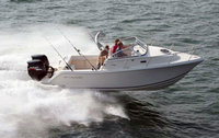 2008 McKee Craft® Freedom 24 Express with Factory OEM White Sunbrella Bimini Top in Boot