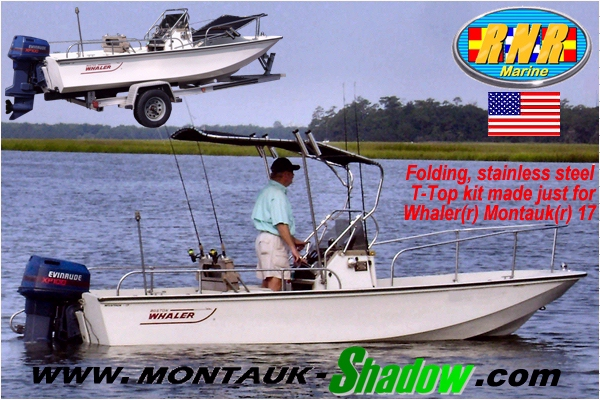 RNR-Marine™ Patent-Pending T-Topless™ Montauk-Shadow™ Folding T-Top Kit PostCard Image