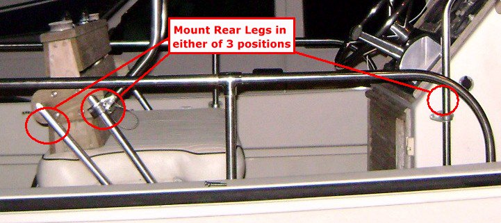 Montauk-T-Topless™ Rear Leg Mounting Options Picture