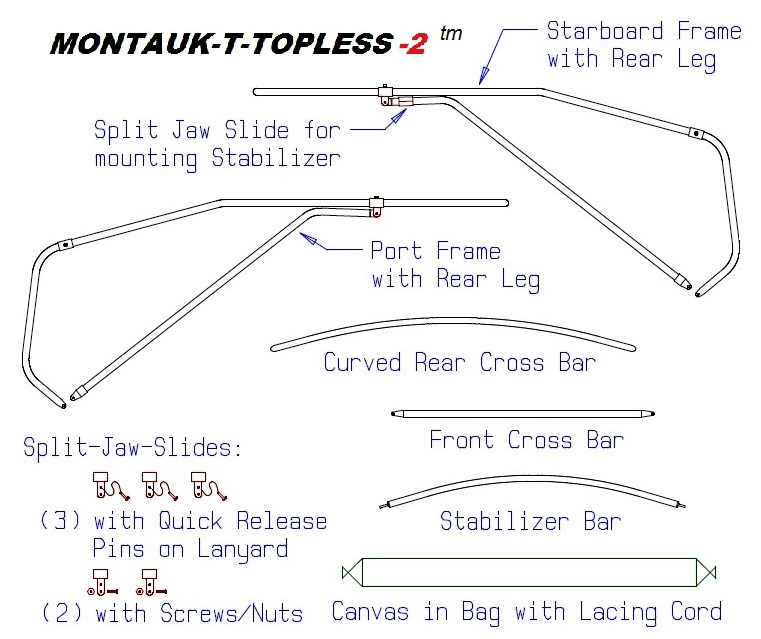 Montauk T Topless (MT2) Parts Drawing