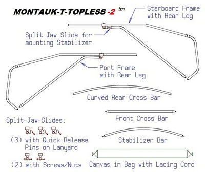 Montauk-T-Topless™ (MT2™) Parts