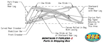 Montauk-T-Topless™ (MT2™) parts in box