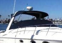 Photo of Monterey 322 Cruiser, 2002: Bimini Top, Sunshade Top, Cockpit Cover, viewed from Starboard Front