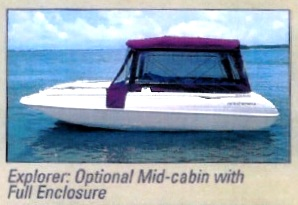 Bimini Top Canvas Zippered Factory OEM For MontereyR 240 Explorer