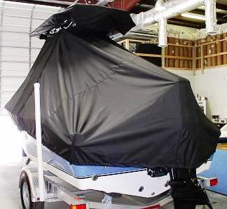 NauticStar, 1900XS Offshore, 20xx, TTopCovers™ T-Top boat cover rear