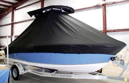 NauticStar, 1900XS Offshore, 20xx, TTopCovers™ T-Top boat cover side